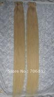 Free shipping non virgin remy brazilian hair extensions lightest blonde straight braiding hair mix length 16 18 20 22 24 26