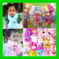 SMILE MARKET Free Shipping  5pieces/lot Lovely Cartoon Scarf for baby and Children