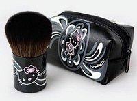 Cat Mini small black mushroom head brush new