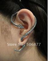 Women E011 Free Shipping wholesale Cool New 12pcs/lot Snake Punk Gothic Stud Earrings Restore Personality Winding Goth Ear Cuff