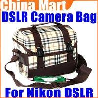 Deluxe DSLR Camera Shoulder Bag Photo Video Gadget Bag For Nikon DSLR Free Shipping+Drop Shipping