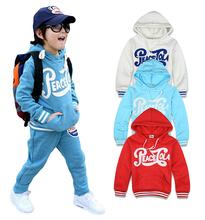 2014 New Boys Clothes Set:Cotton Long Sleeve Child Sweatshirt +Pants 2 pcs Kids Twinset Boy Letters Printed Sports Suit Hot Sale(China (Mainland))