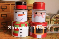 Christmas design Storage box metal candy can Iron Tin case iron box Christmas gift Box