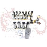 KICS Project Kics R40 Racing Locking Lug Nuts TITANIUM Color- 16x Lug nuts- 4x Lock nuts- 1x Key Adapter- 1x Special Adapter