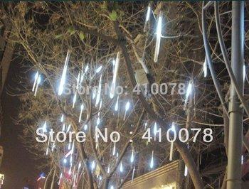 2 Pcs LED Meteor Shower Rain Tube Lights Outdoor Christmas Tree Lights Festival Decoration 8X 30cm Poles Free shipping