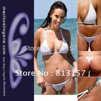 Free Shipping ML37012 Wholesale Ladies Summer Bathing Suits Swimwears Cheap Mini Women White Bikini Sets Black/Red