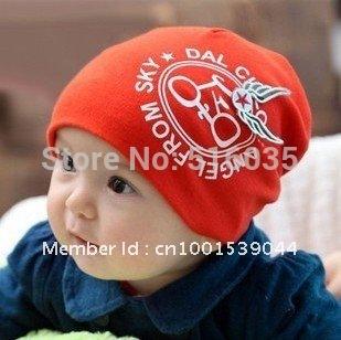 Free shipping soft cotton beanie hat kids cap baby hat children hats 5 colors