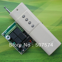 free shipping  12V 4channel  remote control switch with 4buttons 3000M remote control