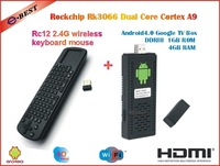 RK3066 1.6GHz Dual Core A9 Android 4.0 TV box 1GB RAM 4G ROM HDMI+Fly Air Mouse Measy RC12 + Touchpad Handheld Keyboard Combo