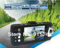 """Car DVR Recorder , Dual Lens Car Black Box X6 with 2.7""""TFT LCD + HD 1080P + 8 IR LED + HDMI + H.264 ! Free Shipping !"""