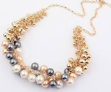 22 Min order is 10 mix order Korean jewelry fashion all match golden pearl multi element