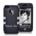 Free Shipping Wholesale Combo 2in1 PC + Silicone Rugged Case For 4G/4S