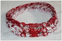 Free Shipping 3 Ropes Braided Oklahoma sooner Stanford cardinals Wisconsin badgers No Box Only Necklaces 100PCS/Lot Mix Teams