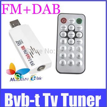 10Pcs/lot FREESHIPPING Wireless Usb 2.0 DVB T+FM Radio+DAB Radio DVB-T Mini TV Stick/Reciver/Dongle+Recorder HD For Laptop/PC