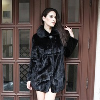 Hot sale high quality 100 % real mink fur ladies' Genuine Mink fur Coat winter garment overcoat/wholesale/retail