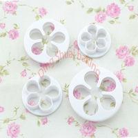 4pcs/set rose petal cutter for sugarcraft and fondant cake decorating tools.