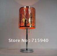 Bedroom lamp bedside table lamp simple gifts creative living room European-style lamps stainless steel