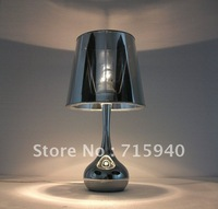 The simple metal texture bedroom bedside living room table lamp