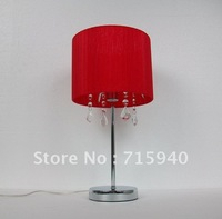 Black, white, purple, red lamp