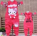 Free shipping! 2013 spring hello kitty baby clothes children suit Girls baby children's clothing