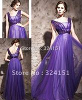 Latest Designs Prom Long soft tulle Elegant Cheap Evening Dress 2014 Zipper Back Evening gown