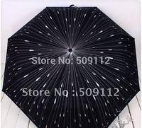 Free shipping  anti-uv three fold umbrella  personalized romantic lovers umbrella,meteor umbrella,400g per piece