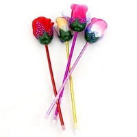 Office & school novelty  promotional stationary rose ballpoint pen, Free shipping wholesale, mixed colors