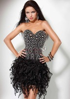 Custom Made Sweetheart Mini Embrioidery Beading Prom Dress Party Dresses cocktail dress