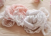 Children's scarf  Lace scarf  Knitted fabrics