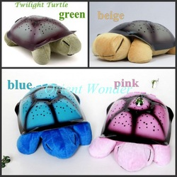 Freeshipping/dropshipping without retail box Twilight Turtle Night Lights for kids 4 Color Music Star Lamp,nice new year gift(China (Mainland))