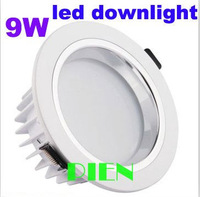 Recessed 9w led lamps European 9 LED ceiling lights 3000K spot downlight 110V-240V+ LED Driver by DHL 10pcs
