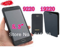 Free Shipping 5.3&quot; Touch Screen Quad Band Dual SIM FM Mobile Phone I9220 9220(China (Mainland))