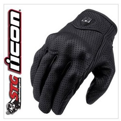 American ICON invisible motorcycle gloves punch goat leather gloves super ventilation function(China (Mainland))