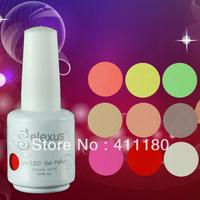 Free shipping! Gelexus Soak off UV/LED Nail Gel Polish (10pcs color gel+1pc base gel+1pc top coat)