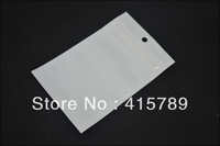 100pcs 12*7.5cm Clear + white pearl packaging bag Zip lock Jewelry gift candy food poly PP OPP PVC plastic shopping packing bag