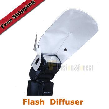 Universal Foldable Flash Diffuser Light Barrier Camera Flash Diffuser Flash Accessories