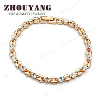 ZYH061 18K K Champagne Gold Plated Bracelet Jewelry Made with Genuine SWA Elements Austrian Crystals Wholesale