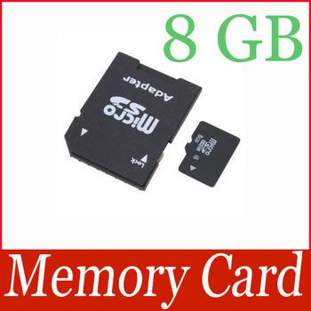 High Capacity 8GB Micro SD TF MicroSD TF Memory Card 8GB 8 GB with SD Adapter