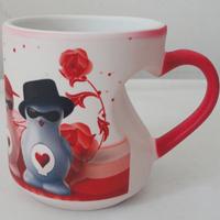 ceremic porcelain heart shape mug for Christmas Gift ,Valentine Gift
