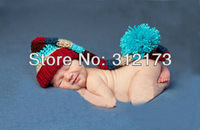 Free shipping--Baby accessories baby lovely Hand woven knit color cap Crochet cap Antenna baby Photography clothing 1pcs/lot