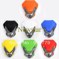 LED Vision Headlight Street Fighter Bike Fairing Motorcycle Universal dirt bike dual Sport headlight