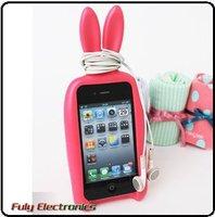 Retail New Rabito Case Bon Bon Design for iphone 4/4s,3D rabbit phone case free shipping