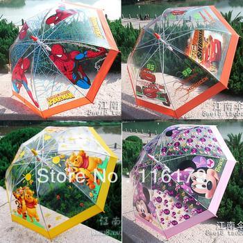 New 2014 CARTOON KIDS UMBRELLAS bubble fancy BABY rain umbrella GIFT for child + FREE SHIPPING