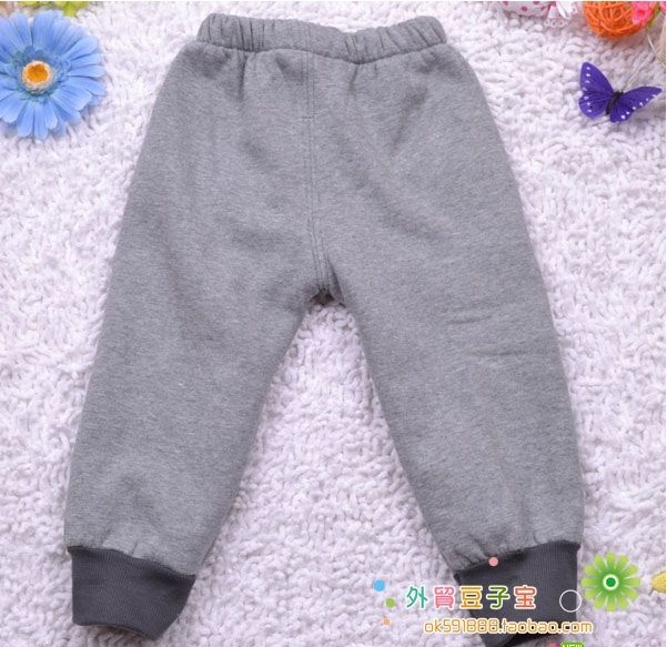Брюки для девочек casual children pants plus velvet thickening bear open-crotch trousers baby pants 6pcs/lot A022