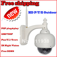 plug and play 720p 1.0 megapixel ptz hd wireless camera free ddns sd card slot