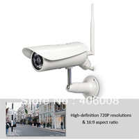 "Outdoor ip camera hd 720p (1280 x 720), wireless & POE combo, 50"" night vision, 32Gb MicroSD DVR + Free shipping"