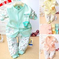 Cotton Baby bear 2 piece babysuit SZ0050