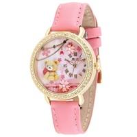 MN2000P Fashion originality MINI watch 3D bear watch DIY Handmade Genuine Leather Quartz Ladies watch 1pc+free shipping