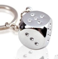shining dice keychain lucky baby carrying small a024