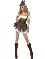 ML5272 Free shipping  Fancy Dress Costume  Christmas Cospaly Costume Sexy Ladies Outlaw Robin Hood Costume